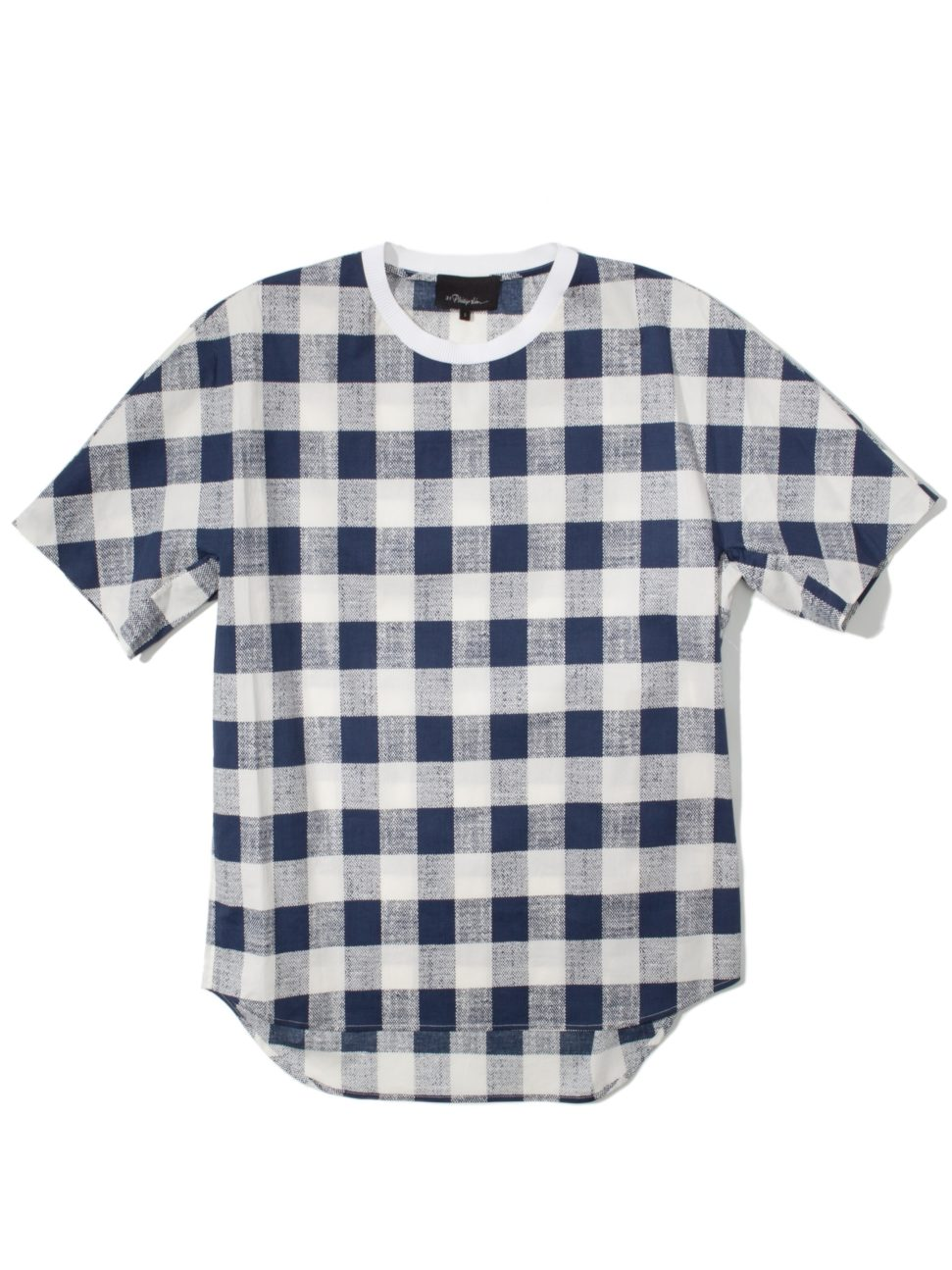 3.1 Phillip Lim Buffalo Check Dolman Sleeve T-Shirt