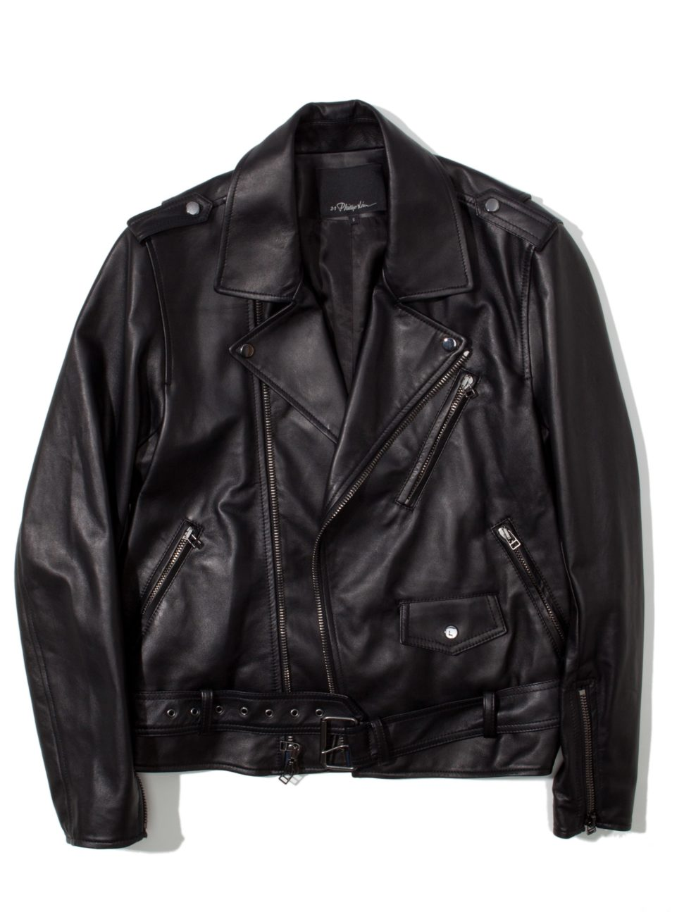3.1 Phillip Lim Lamb Leather Motorcycle Jacket