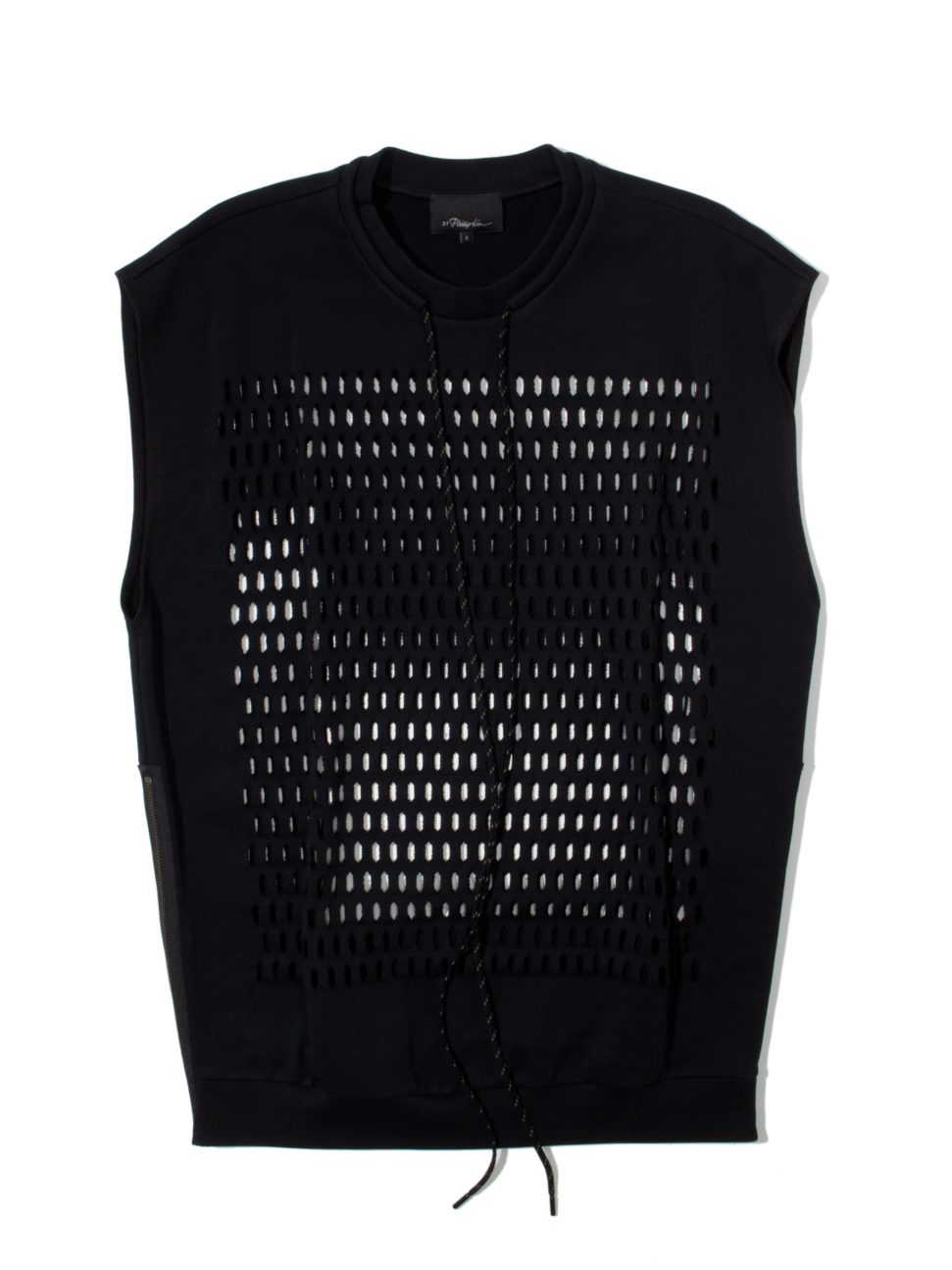 3.1 Phillip Lim Side Zipper Laser Cut Tank